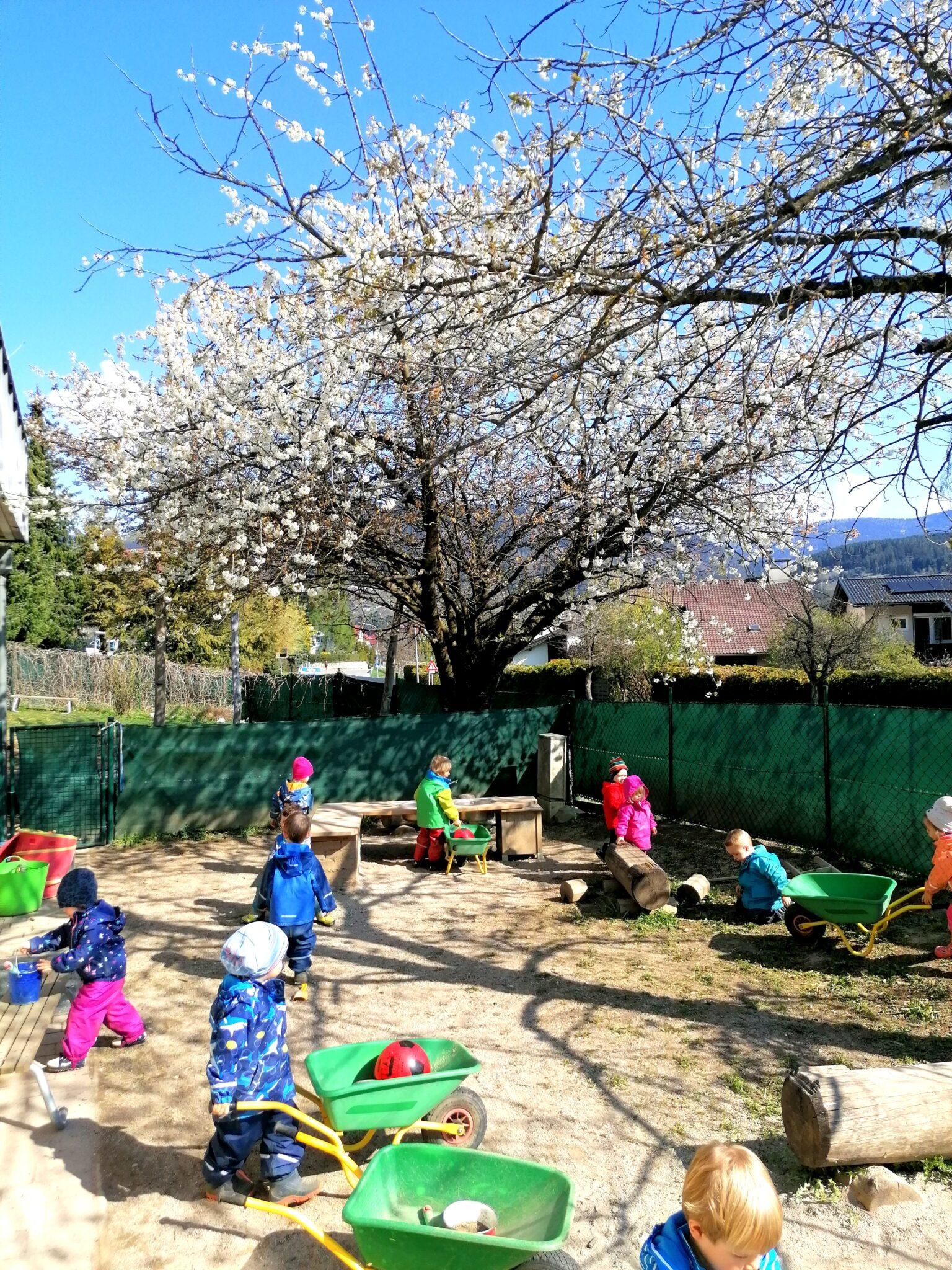 Frühling in der Kleinkindgruppe