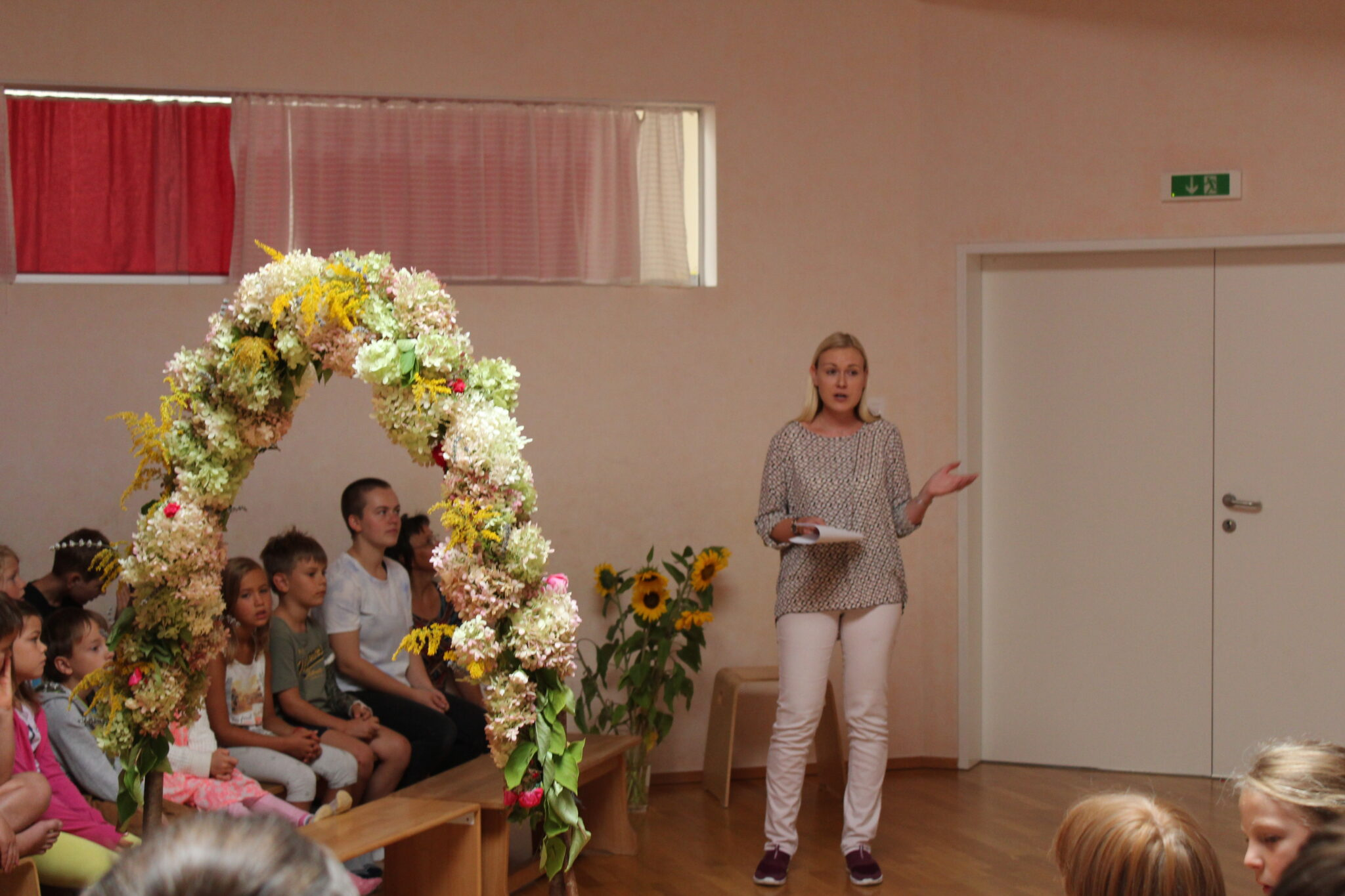 Erster Schultag an der Waldorfschule Villach